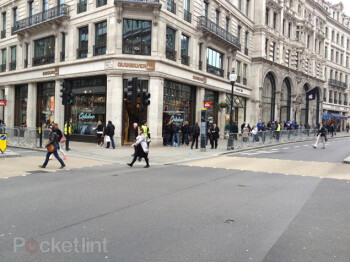 The line in front of the Regent Street Apple Store is gone