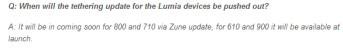 Nokia says tethering is coming to the Nokia Lumia 710 and Nokia Lumia 800