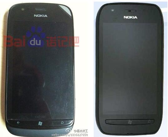 The Nokia Lumia 719c (L) compared to the Nokia Lumia 710 - Pictured: Nokia Lumia 719c and Nokia Lumia 710 for Chinese consumption