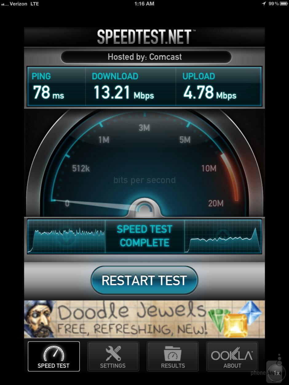 Apple's new iPad (3) using Verizon's 4G LTE network - Verizon 4G LTE data speeds with Apple's new iPad
