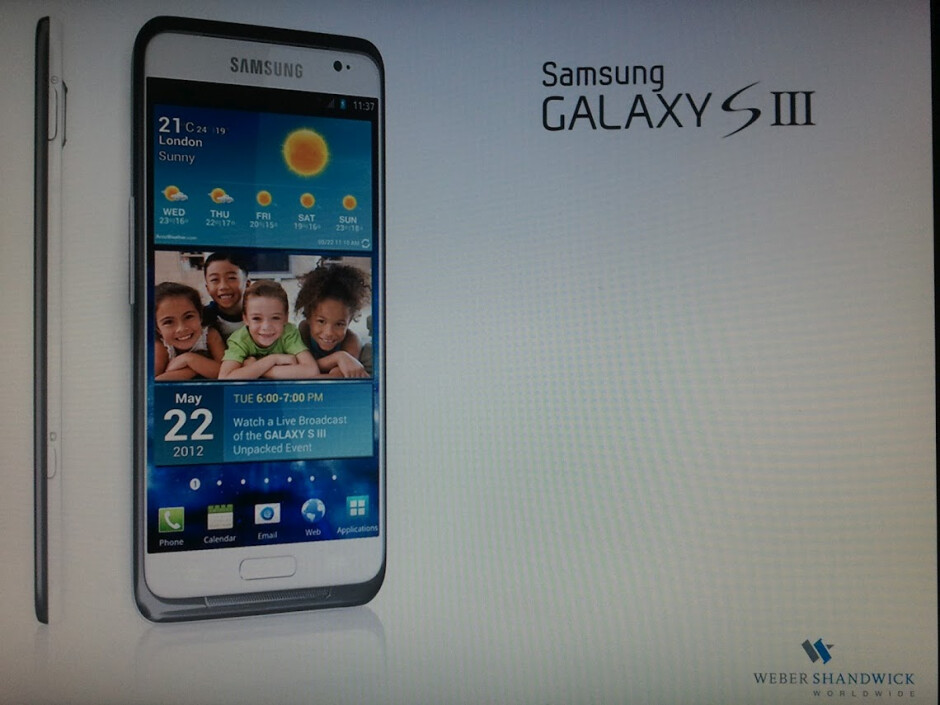 Is this the real Samsung Galaxy S III? - Leaked press image hints Samsung Galaxy S III announcement May 22