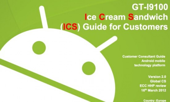 Samsung releases a User's Guide for Android 4.0 update to European Samsung Galaxy S II - Android 4.0 User Guide released for European Samsung Galaxy S II