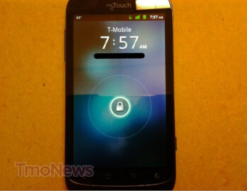 T-Mobile myTouch smartphone made by Huawei poses for the camera