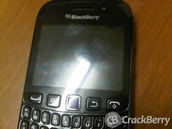 The entry level BlackBerry Curve 9320 (L) features a dedicated  BBM button (R)