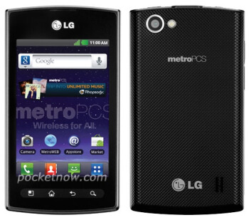 The unannounced MetroPCS LG Optimus M+