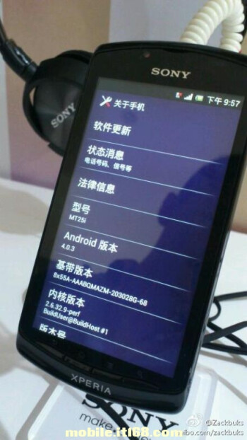 Sony Xperia neo L is the first Android Ice Cream Sandwich phone from the company, China bound