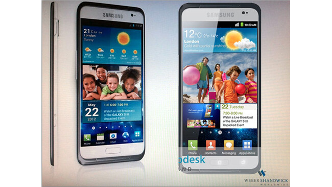 The new mockup of the Samsung Galaxy S III (R) matches one from the other day - Here's the latest on the Samsung Galaxy S III