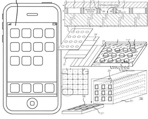 Apple's version of haptic feedback - Apple files for patent on haptic feedback system