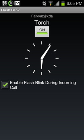 Flash Blink - Homebrew Android app Flash Blink turns your LED flash into a notification light