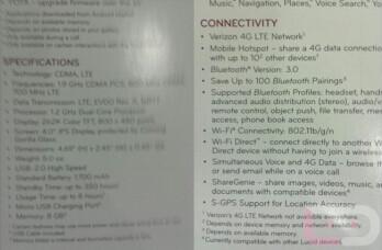Leaked specs of the LG Lucid 4G