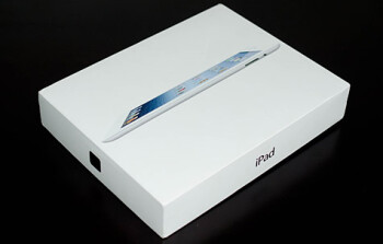 A box containing the new Apple iPad