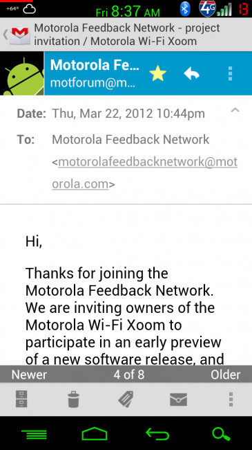 Motorola is recruiting XOOM Wi-Fi owners - Motorola doing soak test for the Motorola XOOM Wi-Fi; update is coming