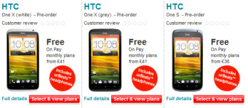 Pre-order the HTC One X or the HTC One S from Vodafone