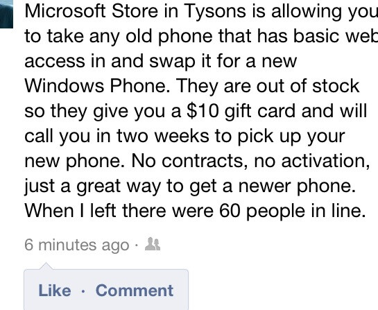 Microsoft Stores will take your feature phone, exchange it for a brand new Windows Phone