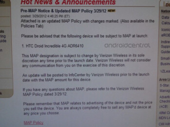 Verizon's internal system outs the HTC Droid Incredible 4G (R)