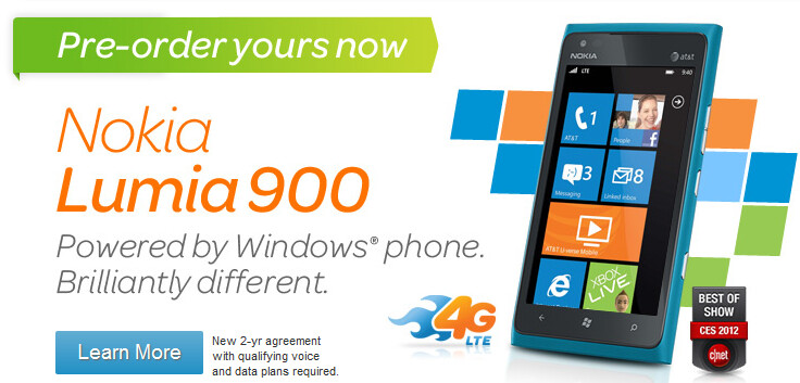 Has AT&T sold out its pre-order inventory of the Nokia Lumia 900? - Has AT&T sold out of its pre-order stock of the Nokia Lumia 900?
