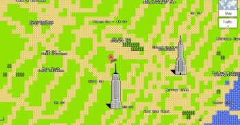 New York City as an 8-bit Google Map