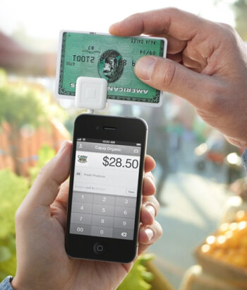 Square uses a dongle to accept credit cards.