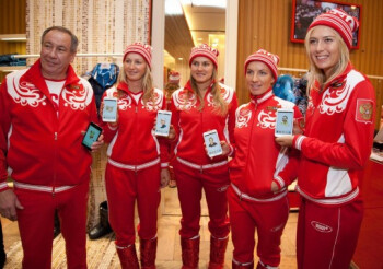 Samsung equipped the whole Russian tennis team with Galaxy Notes