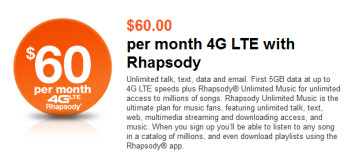 The high-end monthly LTE plans for MetroPCS