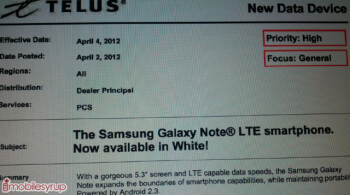 Telus is getting the white version of the phablet starting on Wednesday