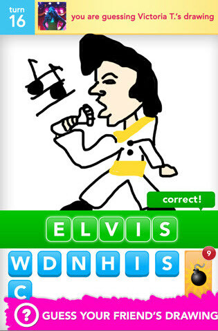 The King on Draw Something
