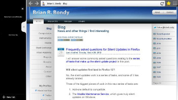 Screenshots of Firefox for Windows 8 Metro posted