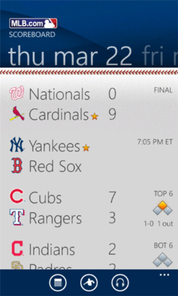 MLB At Bat 12 for Windows Phone finally appears in the Marketplace