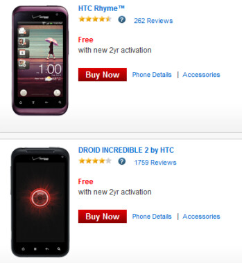 Get one of these two HTC models for free on contract from Verizon