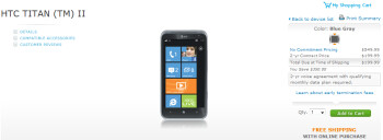 The HTC Titan II is now available to purchase online from AT&T