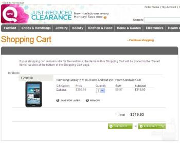 Samsung Galaxy Tab 2 (7.0) available at QVC