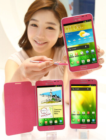Pink Samsung Galaxy Note makes a debut in Korea today