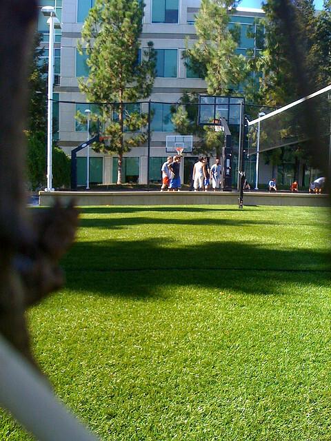 Apple outdoor basketball court