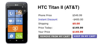 Walmart Wireless already slashes the HTC Titan II by 25