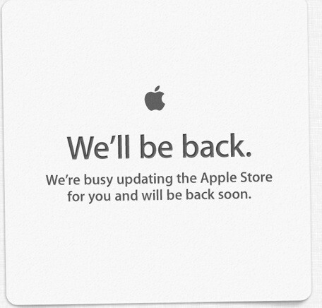 The Apple Store is closed for now - Apple Store down for updating