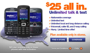 MetroPCS launches limited time offer of $25 unlimited talk & text