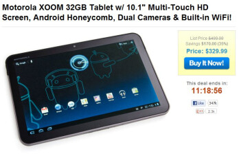 Brand new Wi-Fi only version of the Motorola XOOM is on sale today only for $329.99