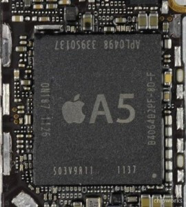 The A5 from Apple TV 3 and the A5 from the Apple iPhone 4S (R)