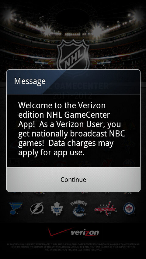 Verizon NHL GameCenter Playoffs edition app goes live