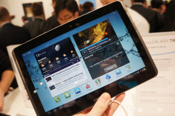 The 7 inch version of the Samsung Galaxy Tab 2 is coming April 22nd (L) while the 10.1 inch version (R) will launch May 13th