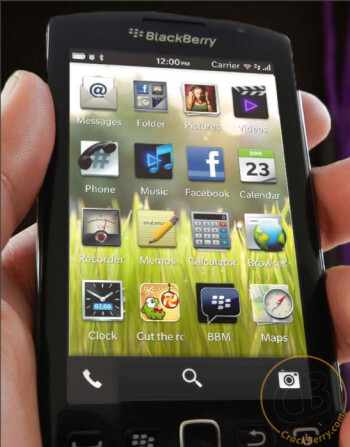 Rendering alleged to show the new BB10 UI, courtesy of Crackberry