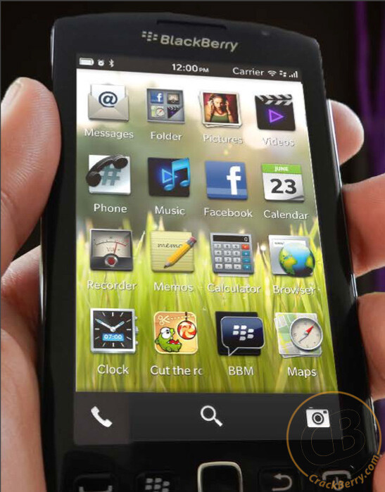 Rendering alleged to show the new BB10 UI, courtesy of Crackberry - Report: Why Jim Balsillie quit RIM