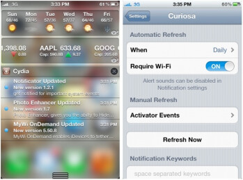 Curiosa enables update notifications for Cydia apps