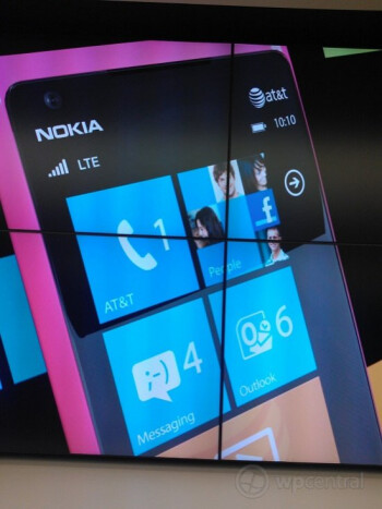 Magenta colored Nokia Lumia 900 with AT&T's branding is spotted at a Microsoft store