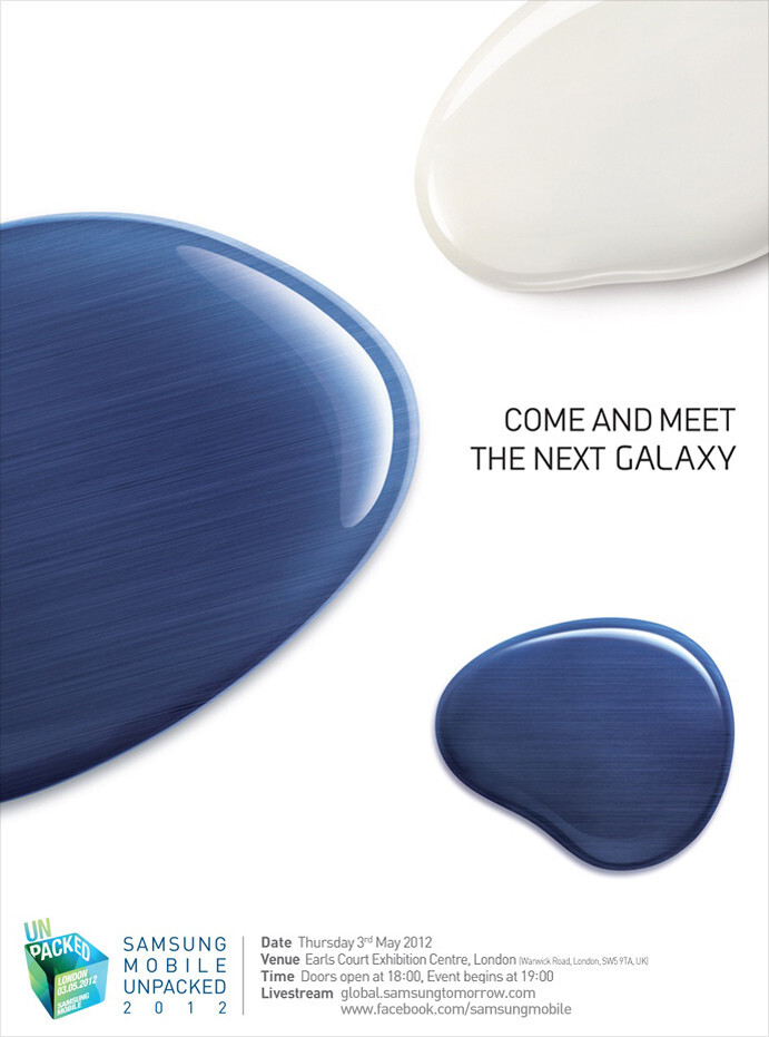 """Samsung to reveal """"the next galaxy"""" May 3 in London, Galaxy S III launch?"""