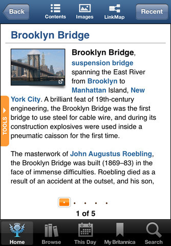 Encyclopaedia-Britannica for iPhone and iPad