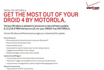 Motorola Droid 4 software update improves battery life, boosts Wi-Fi