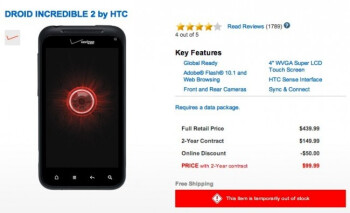 Droid Incredible 2 is out of stock, is the Droid Incredible 4G landing soon?