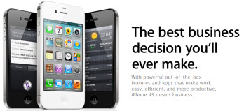 The Apple iPhone is being aimed at enterprise users