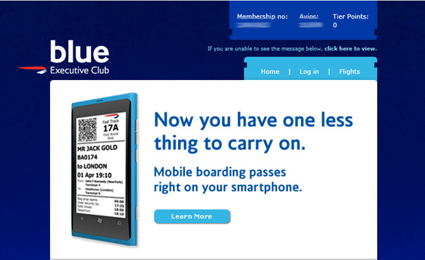 The Nokia Lumia 800 was used as a model by British Airways - British Airways uses Nokia Lumia 800 to illustrate smartphone use as boarding pass